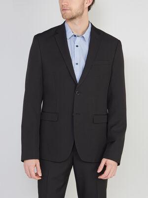 Veste droite avec 2 boutons noir homme