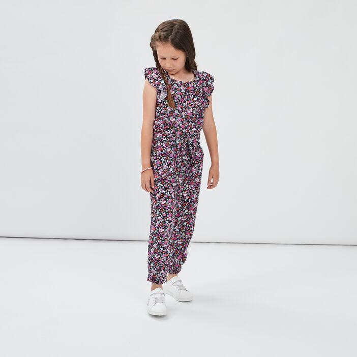 Combinaison pantalon ceinturée fille multicolore