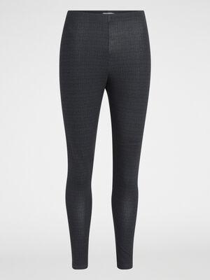 Legging imprime graphique gris fonce femme