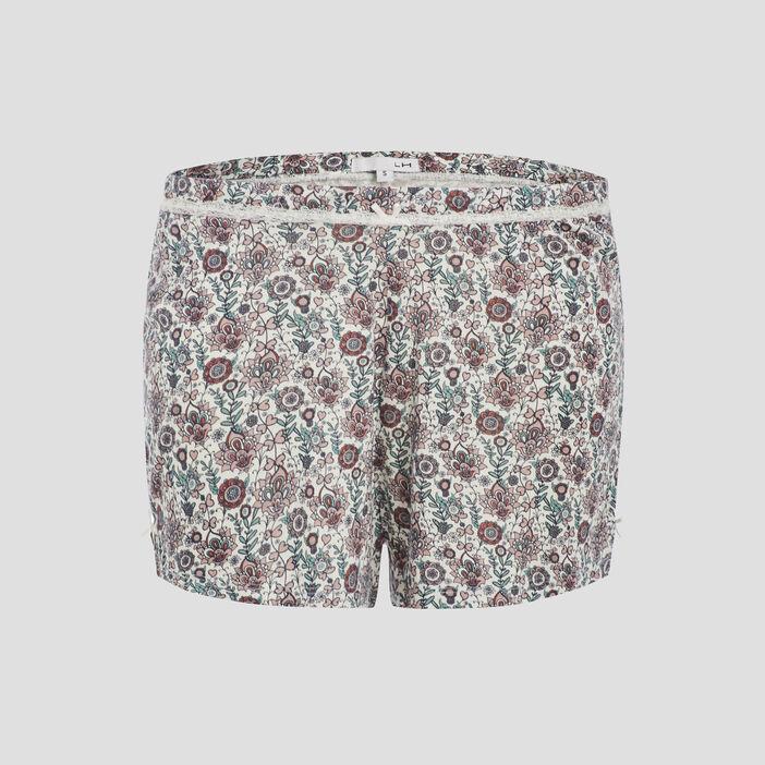 Bas de pyjama short femme multicolore