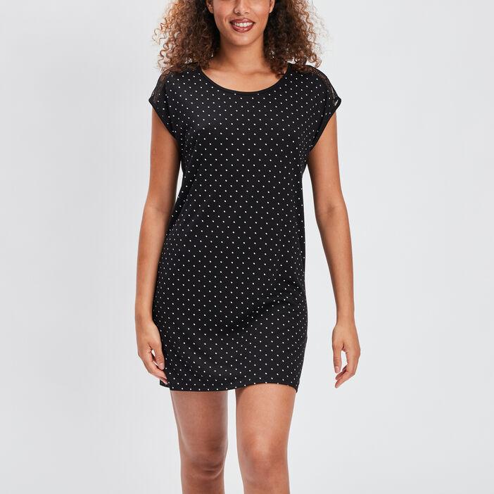 Chemise de nuit femme noir