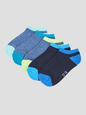 Lot 5 paires socquettes bleu garcon