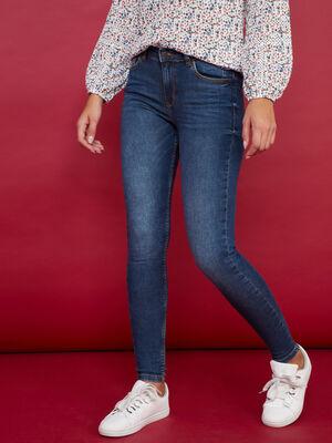 Jeans slim delave Creeks denim brut femme