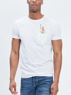 T shirt manches courtes Creeks blanc homme