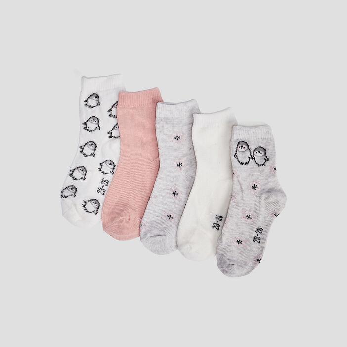 Chaussettes bébé fille gris