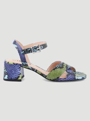 Sandales a talon python multicolore multicolore femme