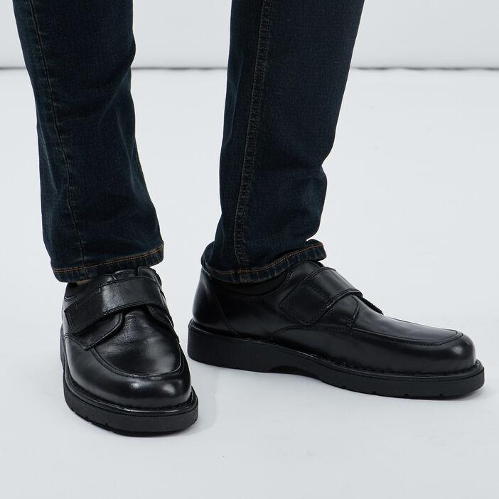 Derbies en cuir à bouts carrés homme noir