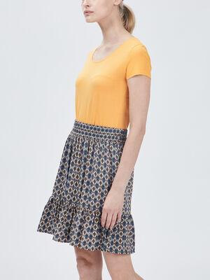 T shirt manches courtes jaune femme