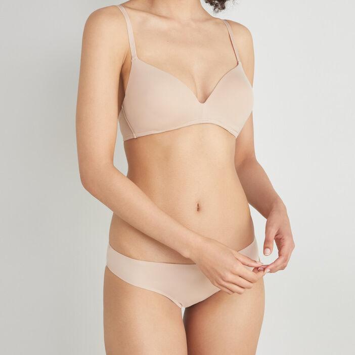 Soutien-gorge triangle uni  femme beige