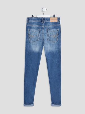 Jeans skinny Creeks denim triple stone garcon