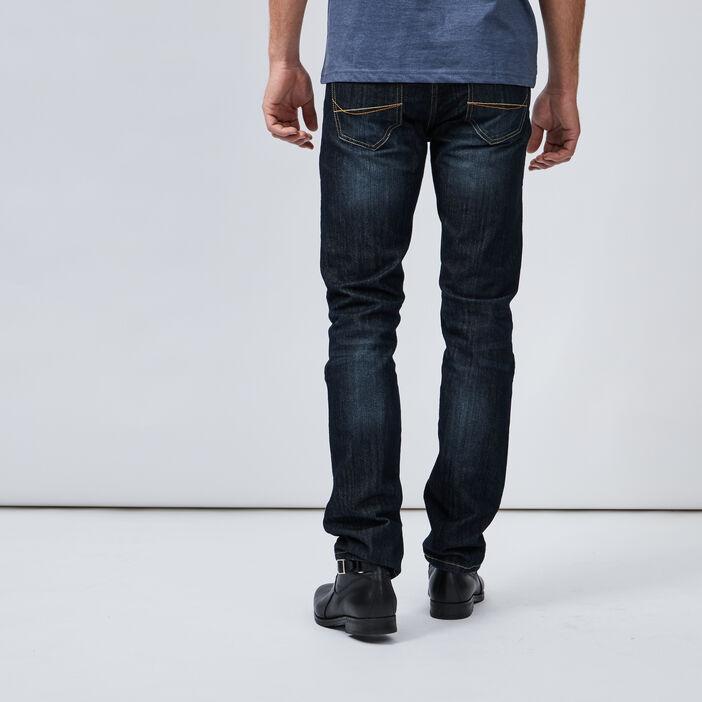 Jeans slim effet délavé homme denim stone