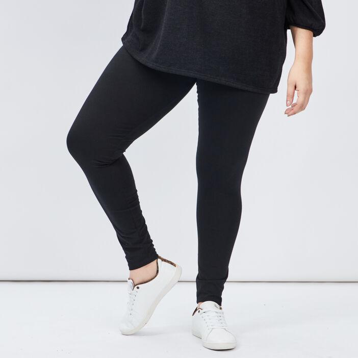 Leggings femme grande taille noir