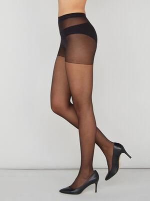 Collants maille transparente noir femme