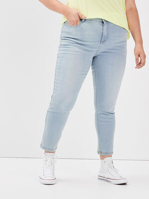 Jeans slim grande taille denim bleach femme