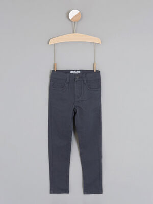 jean droit 5 poches gris garcon