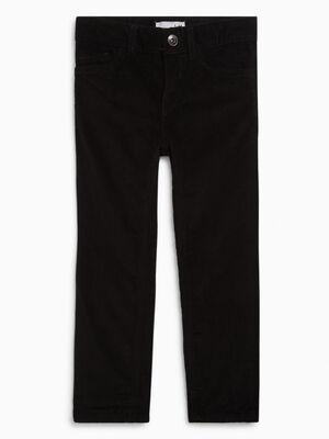 Pantalon slim en velours noir garcon