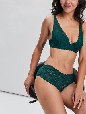 Soutien gorge foulard vert fonce femme