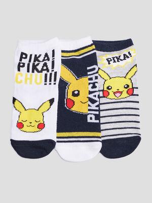 Lot 3 chaussettes Pokemon jaune garcon