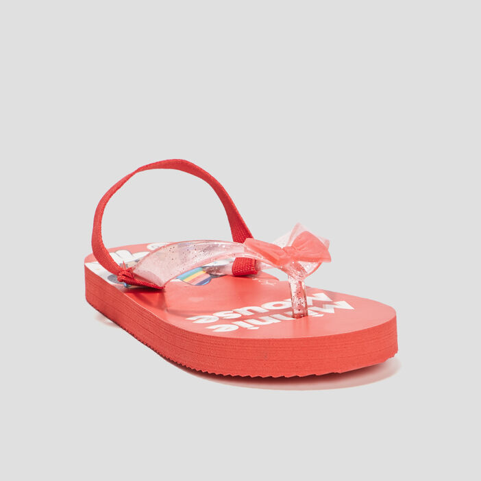 Tongs Minnie fille rouge