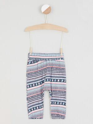 Pantalon imprime taille extensible multicolore fille