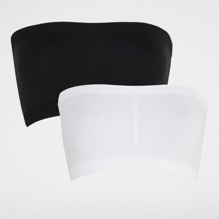 Lot 2 brassières bandeau femme blanc