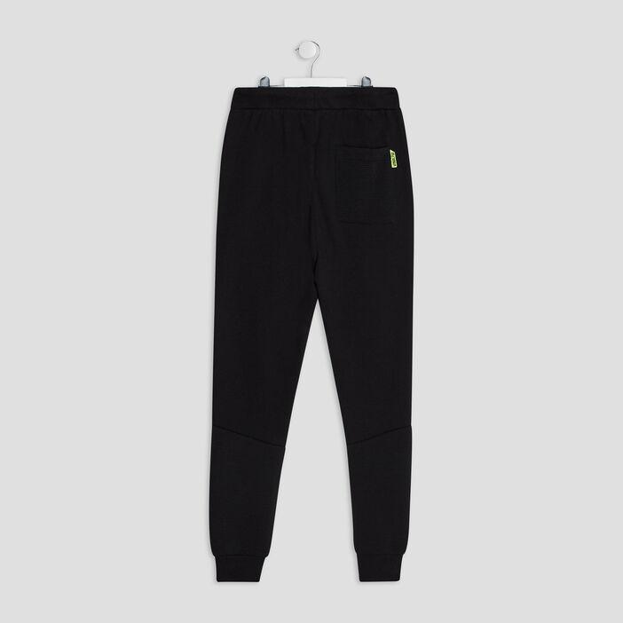 Pantalon jogging droit garçon noir