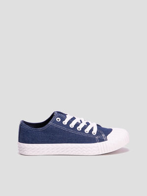 Baskets tennis denim used femme