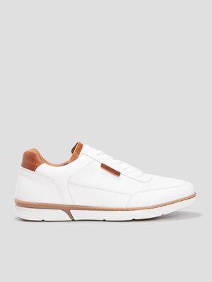 Sneakers en cuir Creeks blanc homme
