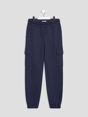 Pantalon jogging taille ajustable Creeks bleu marine fille