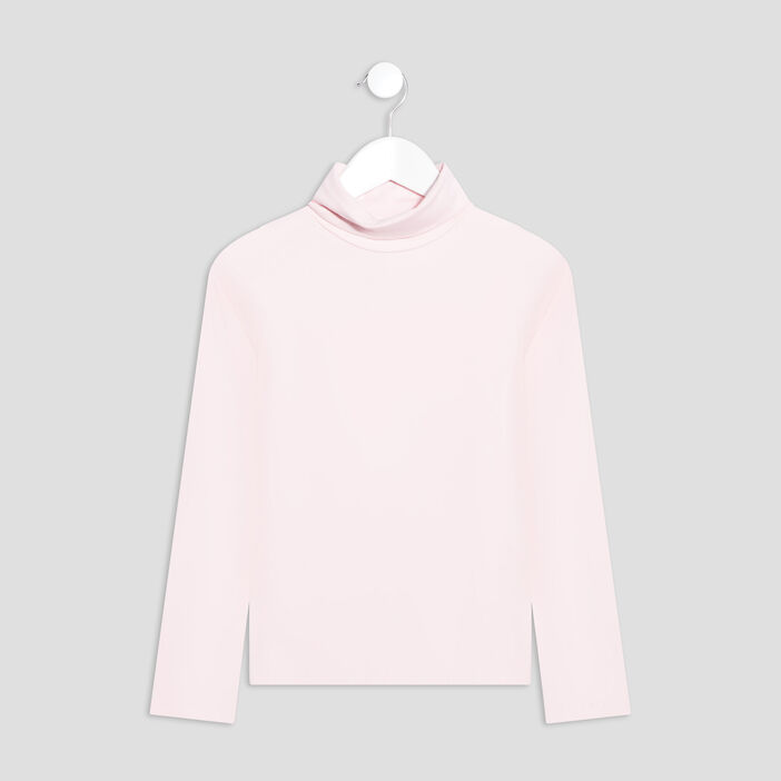 T-shirt manches longues fille rose clair