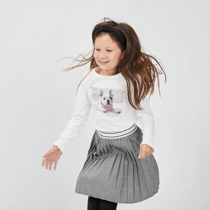 T-shirt manches longues fille blanc