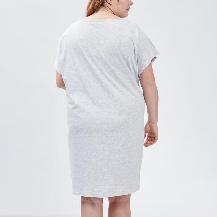 Chemise de nuit grande taille femme grande taille gris