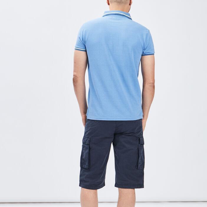 Polo manches courtes Creeks homme bleu