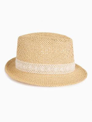 Chapeau borsalino multicolore mixte