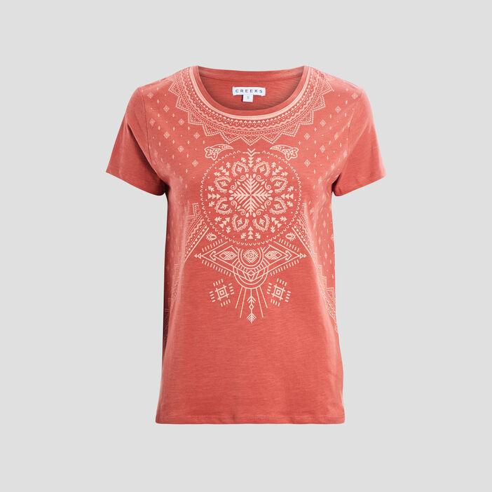 T-shirt manches courtes Creeks femme orange foncé