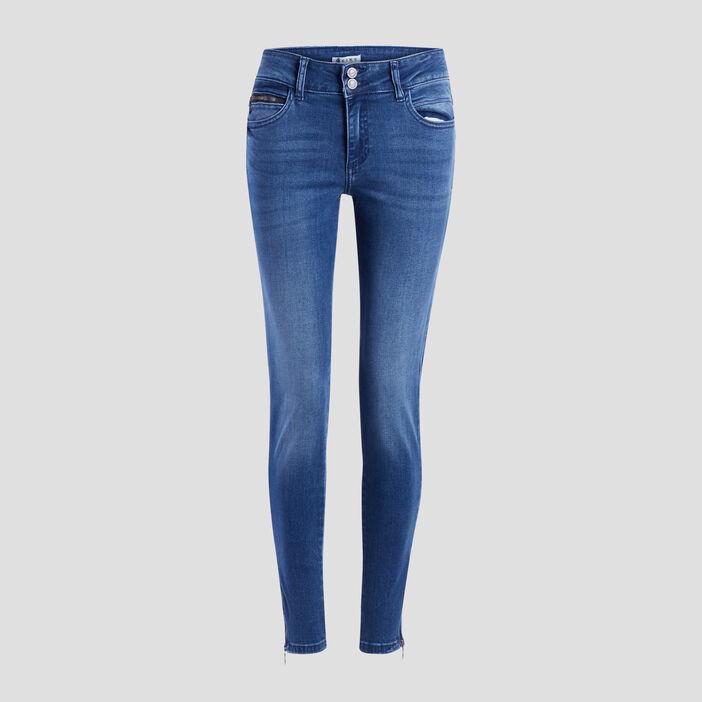 Jeans slim 7/8ème Creeks femme bleu