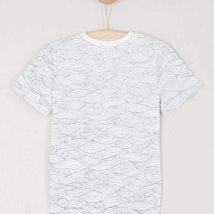 T-shirt imprimé en coton garçon blanc
