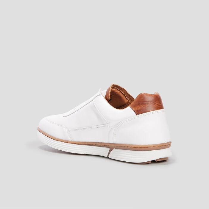 Sneakers en cuir Creeks homme blanc