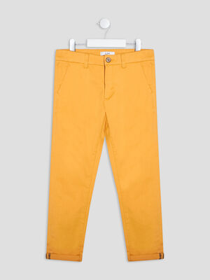 Pantalon chino jaune moutarde garcon