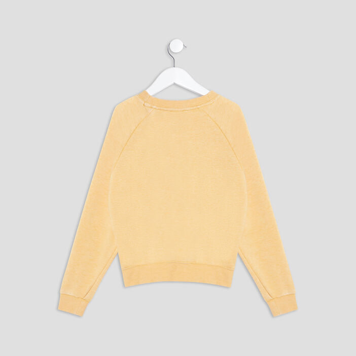 Sweat manches longues Creeks fille jaune moutarde