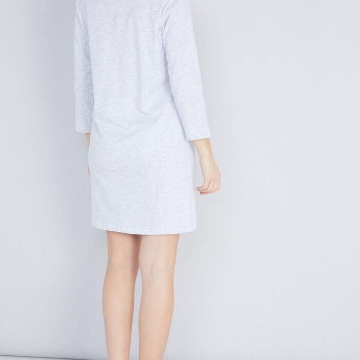 Chemise de nuit TCHIP femme gris