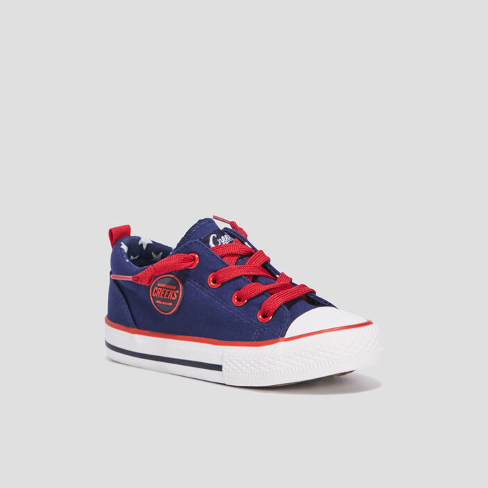 Baskets en toile garçon bleu