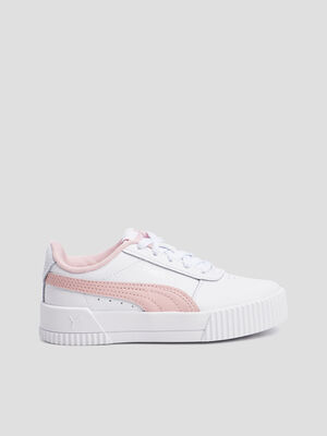 Baskets tennis Puma blanc fille