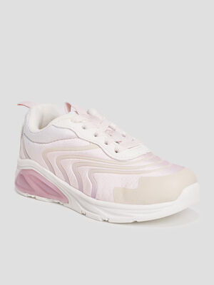 Runnings a lacets rose pastel fille