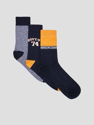Lot 3 paires de chaussettes multicolore homme