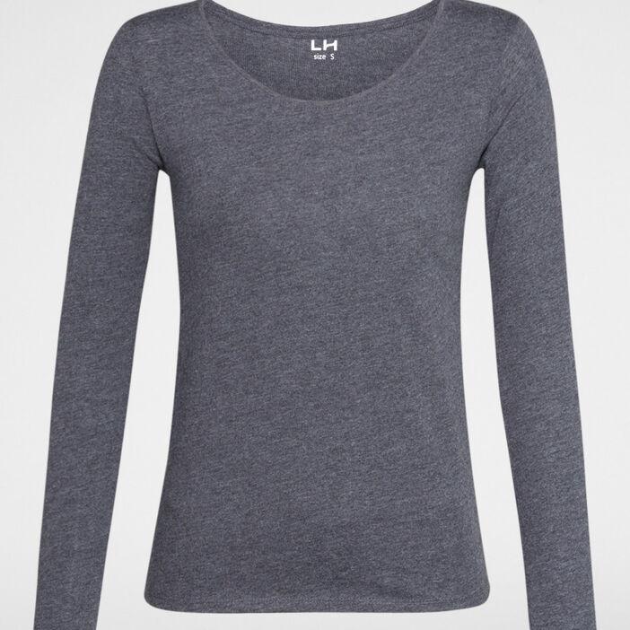 T-shirt à manches longues femme gris foncé