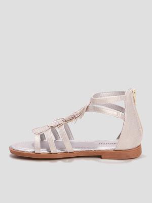 Sandales a franges Liberto blanc fille