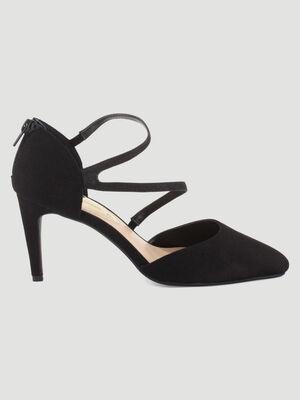 Escarpins zippes talon aiguille noir femme