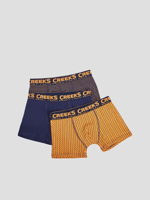 Lot 3 boxers Creeks marron cognac garcon