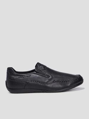 Chaussures bateau noir homme